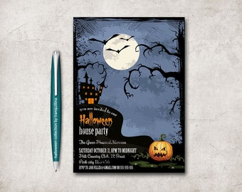 Halloween Invitation Printable, Halloween Party Invitation, Scary Halloween Invitation, Adult Halloween, Kids Halloween Invitation, Digital