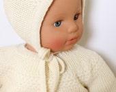 27 / Bonnet bébé Princesse Charlotte / Explications tricot en Anglais / PDF Téléchargement Instantané / Taille : Naissance