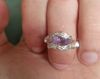 Sterling silver amethyst size 7 ring