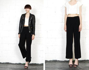 simple black trousers