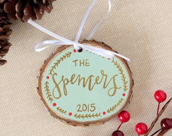 Hand Painted Custom Family Name Ornament
