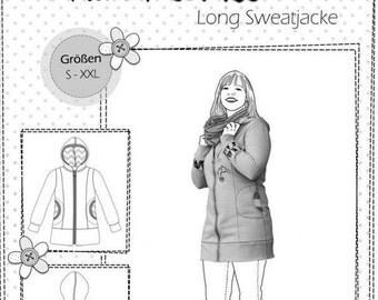 """Farbenmix pattern long Hooded Sweatshirt """"Wife Wilma"""""""