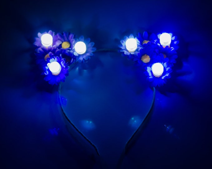 Customizable LED Cat Ear Headband