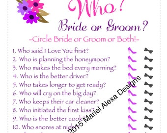 guess who bride or groom bridal shower game instant download fun unique games
