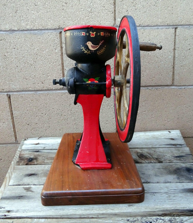 Antique Coffee Grinder Corn Grinder Grist Mill Hand Crank