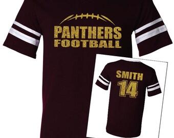 FOOTBALL SHIRT. Team Football Shirt. Mascot Football Shirt. V-Neck Jersey T-Shirt. Football Mom. Football Laces Shirt. Glitter Shirt