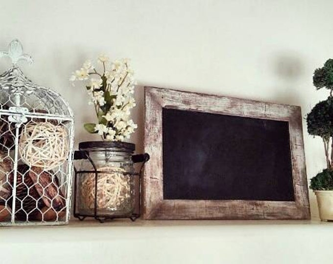Chalkboard - Antique Chalkboard - Decorative Chalkboard - Antique finish - distressed white - chipped white paint