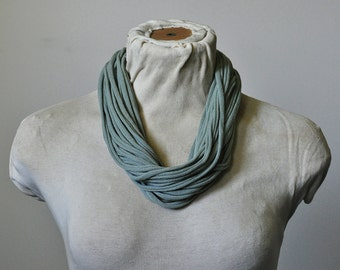 Recycled T-Shirt Necklace Sage Green