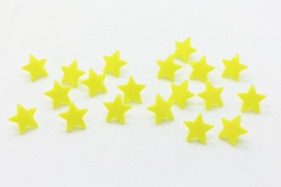 KAM Star Shape Snap Fastener Yellow Star By