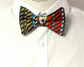Bow tie printed graphic.