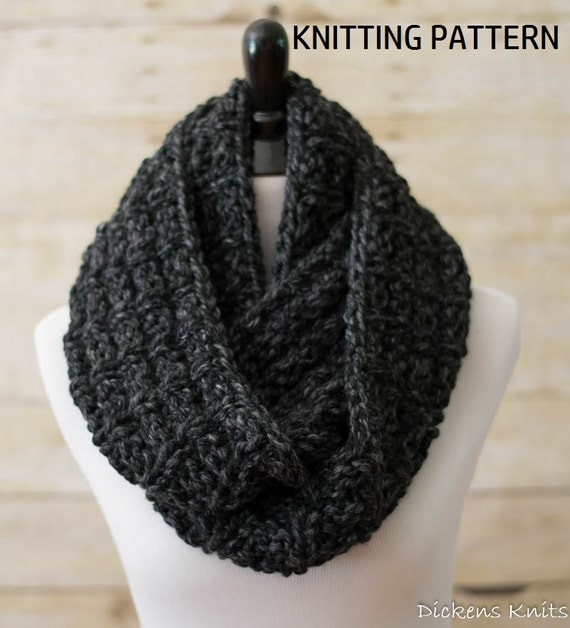 Chunky Circle Scarf Knitting Pattern : PDF KNITTING PATTERN Ladders Chunky Infinity Scarf Knit
