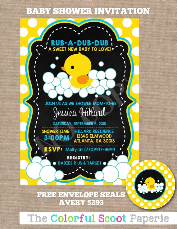 rubber duck baby shower invitation rubber ducky baby shower rubber