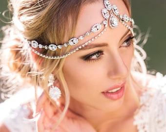 H207 Bohemian Wedding Hair Accessory, Bridal Headpiece, Bohemian Wedding Headpiece, Hair Jewelry, Wedding Headpiece, Bridal Hair