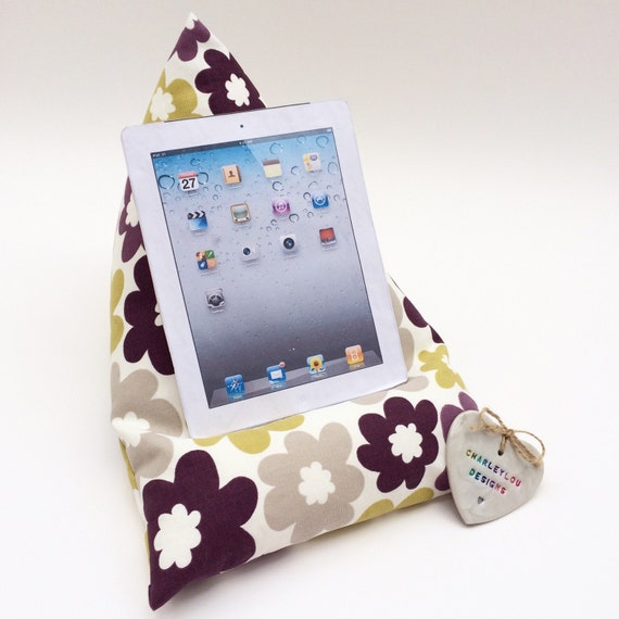 Tablet Pillow Gadget Pillow Tablet Stand Ipad by CharleyLouDesigns