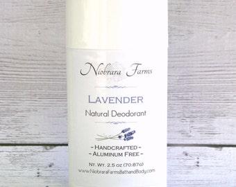 All Natural Deodorant - Natural Lavender Deodorant Stick - Aluminum Free Deodorant - Handmade Lavendar Deoderant - 2.5 oz. Stick Deodorant