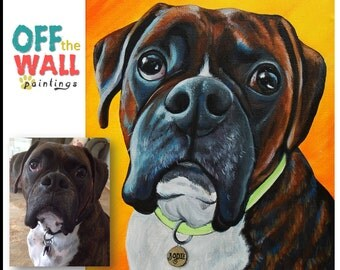 "20"" x 24"" Vibrant Custom Pet Portrait | Hand-Painted on Canvas"
