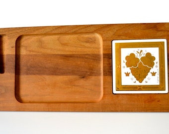 Vintage Teak Cheese Tray by Georges Briard