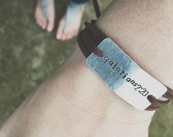 bible verse bracelet, religious jewelry, galatians, religious bracelet, graduation gift, christian jewelry, christmas gift, birthday