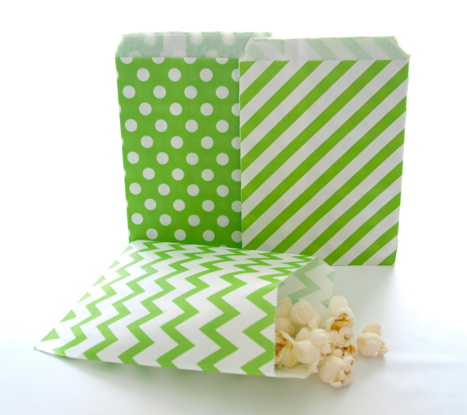 green gift bags popcorn paper bag birthday small gift