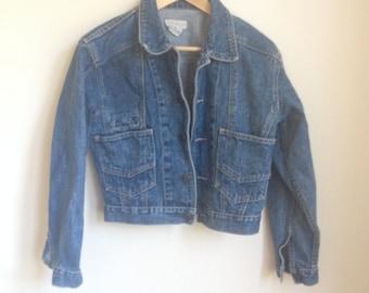 90's Jean Jacket. 1990's Denim Jacket. Size Small.