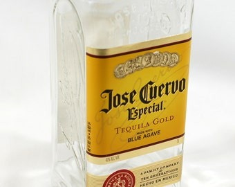 Jose Cuervo Tequila  Vase - Handcrafted from Recycled Liquor Bottle