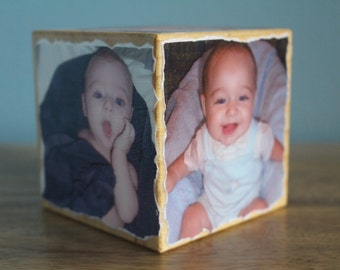 Personalized Photo Cube, Photo Gift, Mother's Day Gift