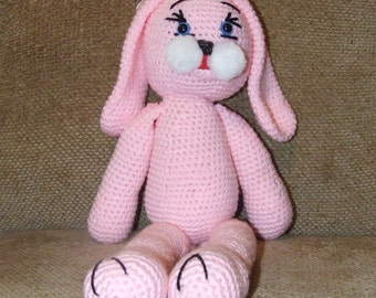 Large pink floppy bunny