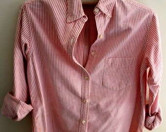 Vintage Red & White Striped Shirt