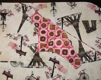 Reversible Pink and Brown Paris/Chocolate Nursing Shawl, FREE SHIPPING