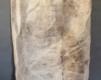 vintage canvas U.S. mail bag