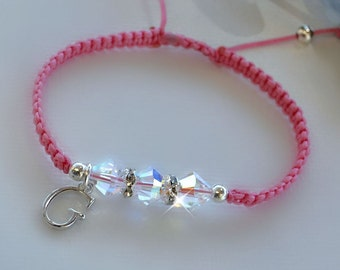 Personalized Swarovski Crystal Friendship Bracelet