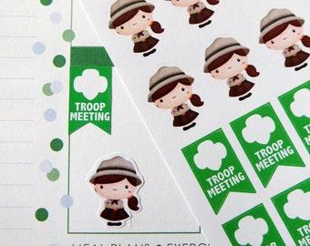 Girl Scout Stickers for Erin Condren Planner, Filofax, Plum Paper