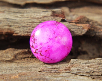 Gemstones - Pink Sea Sediment Jasper cabochon - round 16mm - magenta