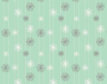 Mint & Gray Fabric, Good Natured, Riley Blake C4084 Mint, Dandelion, Marin Sutton, Mint Quilt Fabric, Cotton