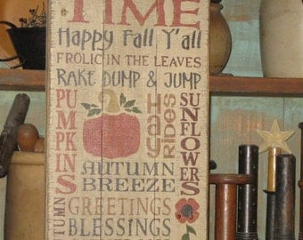Harvest Time~ Upcycled/recycled wood pallet sign