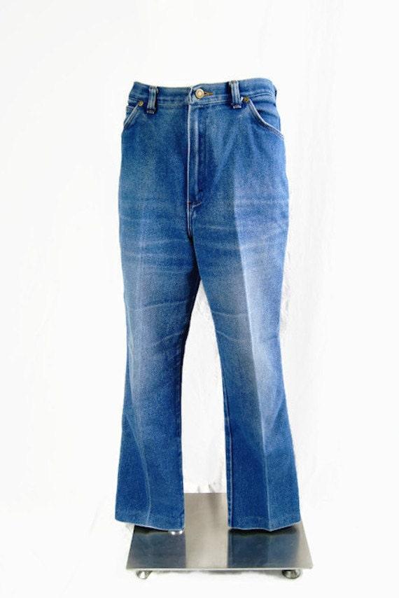 vintage wrangler denim jeans pants 1970s or 1980s made in usa. Black Bedroom Furniture Sets. Home Design Ideas