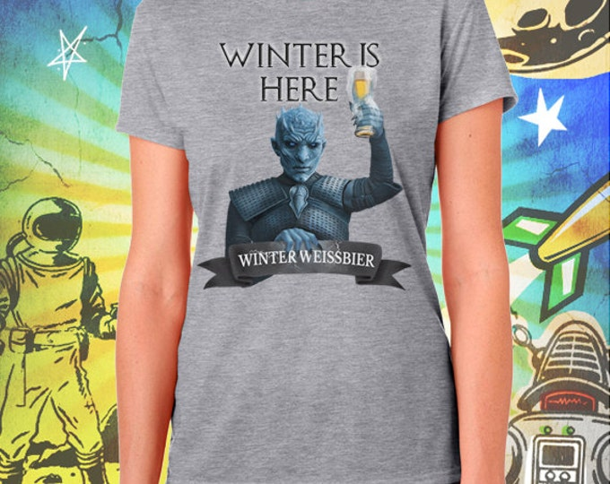 Winter is Here Game of Thrones White Walker Night's King Gray Women's T-Shirt