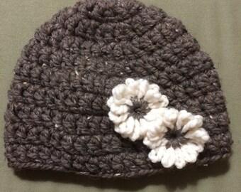 Adult Hat w/flower accent