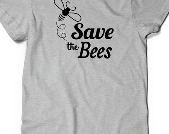 Save the Bees Tshirt T-Shirt T Shirt Tees Mens Ladies Womens Gift Present Bee Honeybee Colony Collapse Disorder Shirt Awareness Statement