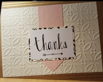 Thanks - Blank Message Greeting Card