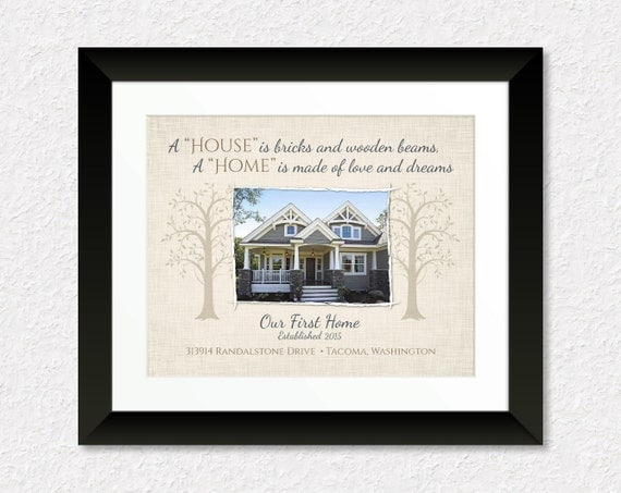 Custom Housewarming Gift Personalized New House By