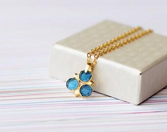 Zora Sapphire 24k gold necklace spiritual stones inspired in The legend of Zelda series