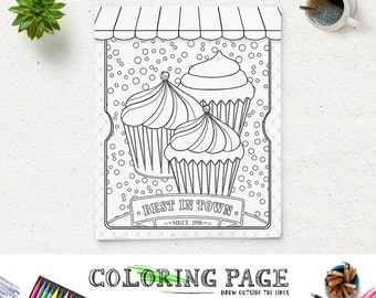 colouring poster etsy