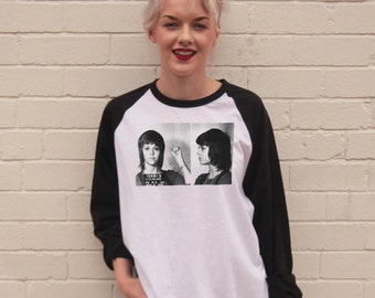 Vintage Style Jane Fonda Mugshot Jersey/T-Shirt
