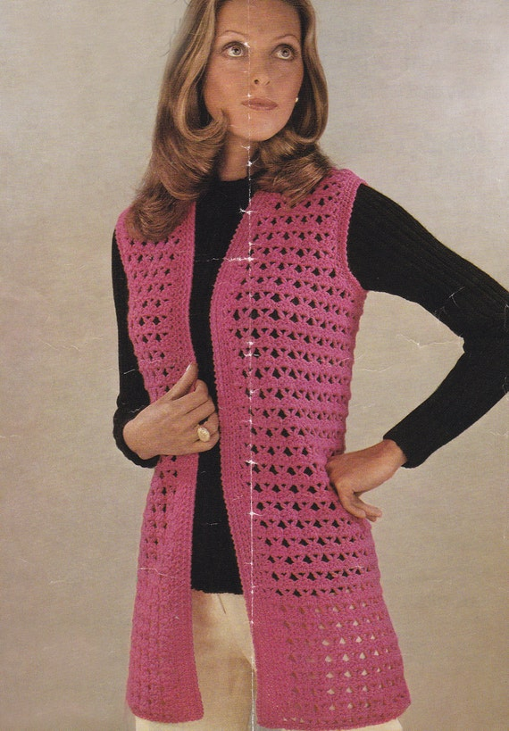 Free Crochet Patterns For Ladies Waistcoats