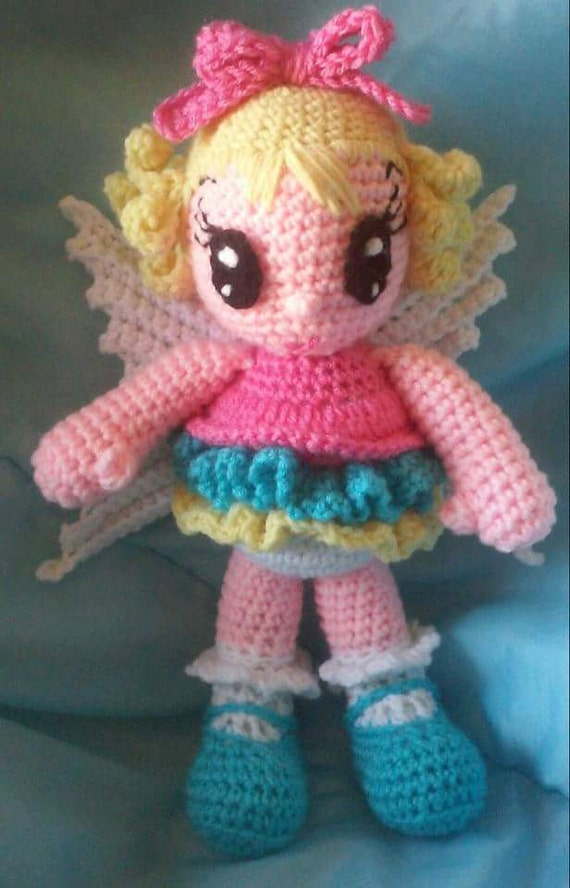 Amigurumi Fairy Pattern : Crochet Fairy Amigurumi Doll Pattern Only