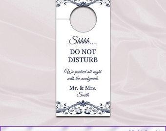 Doorhanger printable etsy wedding door hanger template diy navy blue doorhangers printable do not disturb sign door pronofoot35fo Gallery