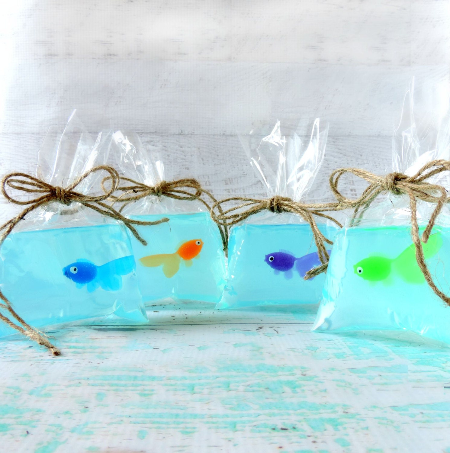 fish soap fish in a bag soap kids soap by theseaglassseahorse