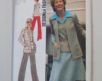 Vintage 1970s Simplicity 6516 Sewing Pattern / Misses' Separates Pattern / Sizes 40-42 (Bust 44-46)