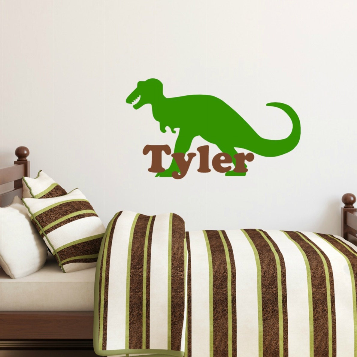T rex decal dinosaur wall decal children 39 s name wall for T rex bedroom decor